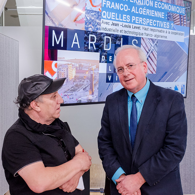"""Jean Louis Levet, conférence sur """"les perspectives de la Coopération Franco-Algérienne"""", Villa Méditerranée"""