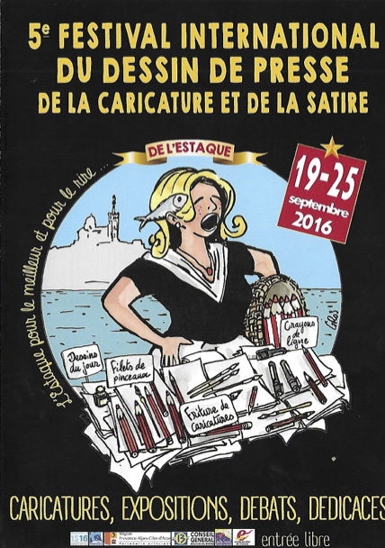 LANCEMENT DE LA 5è EDITION DU FESTIVAL INTERNATIONAL DU DESSIN DE PRESSE ET DE LA CARICATURE DE L'ESTAQUE MARSEILLE