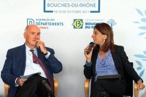 87ème CONGRES DES DEPARTEMENTS DE FRANCE DOMINIQUE BUSSEREAU DEVANT LA PRESSE RÉGIONALE AU CG13